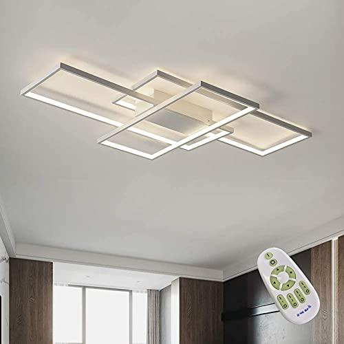 lampadario camera da letto a soffitto LED Dimmerabile Plafoniera Lampada Da Salotto Moderna Lampada Da Soffitto Decorativa Luminosità E Temperatura Colore Regolabili Per Soggiorno