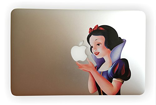 EppoBrand Snow White Holding Apple MacBook 11' 12' 13' Inch Retina Vinyl Decal Sticker with Anti-Scratch Anti-Fading Coating