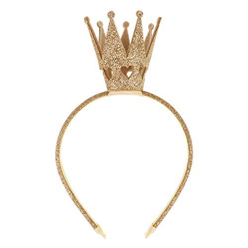 Haarreif für Mädchen mit glänzender Krone, Prinzessinnen-Haarreif, für Damen, Babys, Kleinkinder, für Party, Geburtstag, mit Strasssteinen, Goldfarben / Silberfarben / Pink