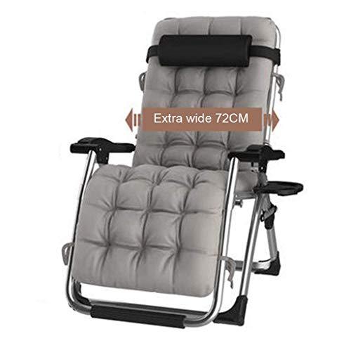 Iyom Kissen Übergroße Terrassenstühle Liegen für schwere Menschen Sonnenliege Schwerelosigkeit Stuhl für Camping im Freien Reise Tragbare Stühle mit Wattepad