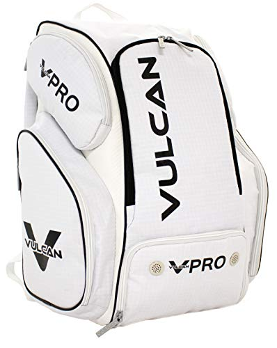 Vulcan Sporting Goods VPRO Pickleball Backpack (White/Black), Multi-Color (VPRO-WHTBLK)