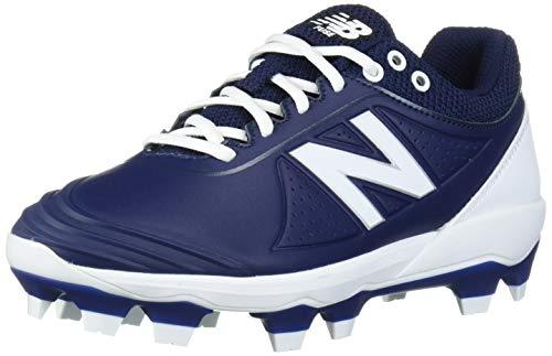 New Balance Women's Fuse V2 TPU Molded Softball Shoe, Navy/White, 10 W US