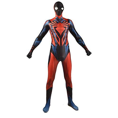 MIANslippers Spider-Man Unlimited Super Hero Cosplay Avengers Etapa Performance Body Boys Kids rol Play Onesuit Disfraz Sumpsuit Theme Party,Red-Kids/S(100~115cm)