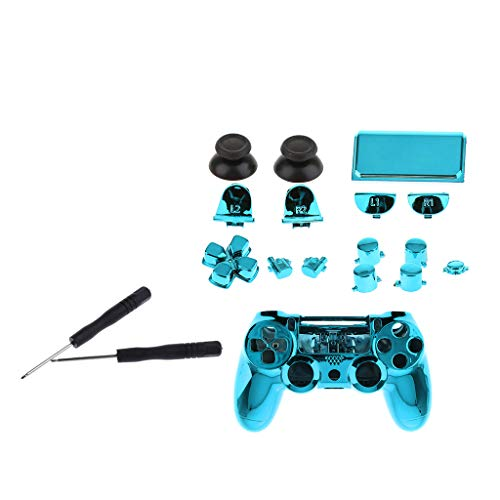 SDENSHI Für Ps4 Pro Controller Button Set Reparatur Teil Case Abdeckung Shell Kit Blau