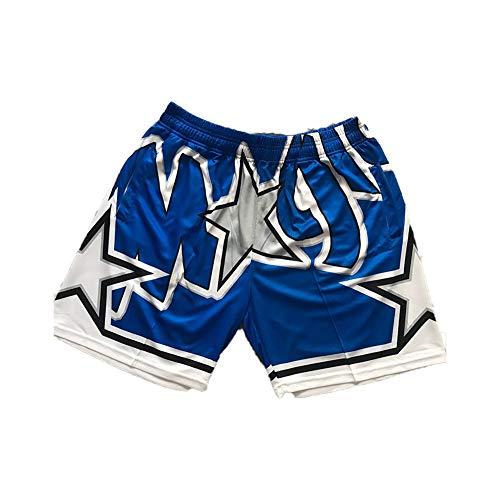 Herren Basketball-Trikot Orlando Magic Jersey, Jugendliche, ärmellos, Sport, Swingman-Trikot, Wettkampf-Uniformen, Fans, Basketball-Sweatshirt, Shorts (S-2XL) XL Blau (B)