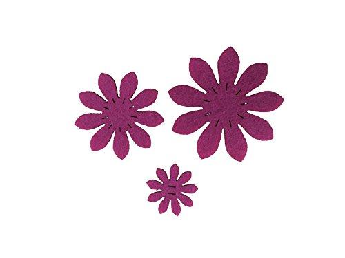 Petra S Kit Creativo News a vif4745F35Feltro Fiori Set, 3Diversi Fiori, 45Pezzi, Feltro Colore: Rosa
