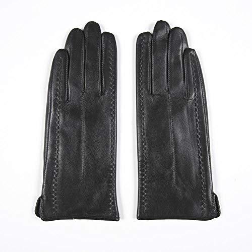 GUANAI Gant Gants d'hiver True Ladies Black Finger Gants Arrived Gants Chauds Black M