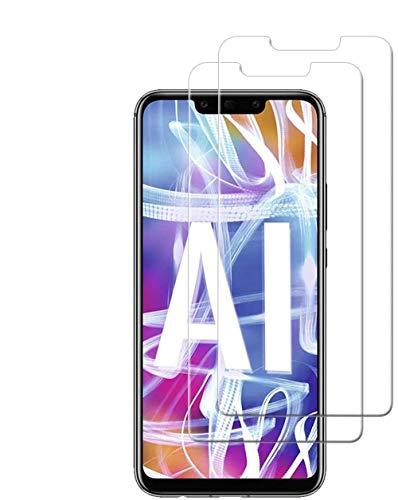 HongMan [2 Pack] Protector de Pantalla para Huawei Mate 20 Lite Cristal Templado, 9H Dureza, Sin Burbujas, Alta Definicion, Resistente a Arañazos Vidrio Templado Screen Protector