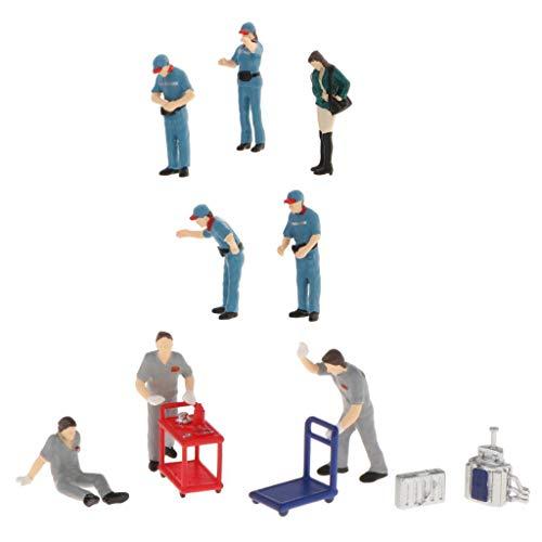 freneci 11 Stück Modell Im Maßstab 1/64 Plastik Personen Layout Szenario Diorama