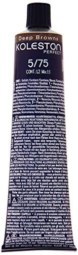 Wella Professionals Koleston Perfect Permanente CremeHaarfarbe, 5/ 75 hell braun-mahagoni, 1er Pack (1 x 60 ml)