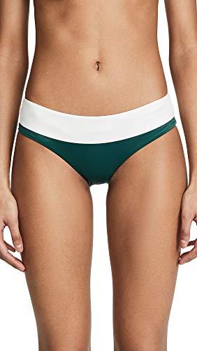 Tori Praver Swimwear Women's Cammie Bikini Bottoms, Emerald, Green, Medium