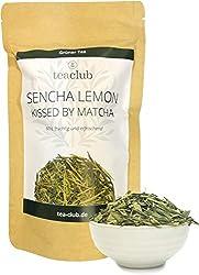 Sencha Lemon Green Tea with Matcha and Lemongrass Loose 100g, Japanese Green Tea with Natural Caffeine, TeaClub Green Tea