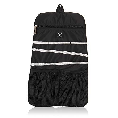 Hynes Eagle Universal Backpack Insert Organizer Travel Bag Slip Gadget Organization Kit Dark Black