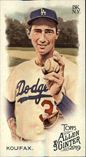 2019 Topps Allen and Ginter Base MINI #32 Sandy Koufax Los Angeles Dodgers Official MLB Baseball Trading Card (very small size)