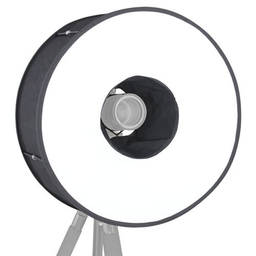 Ring-Flash Softbox, Round-Diffuser Ringblitz-Diffusor für Systemblitz 45cm
