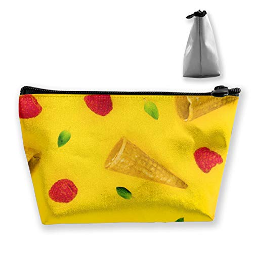 Multi-Functional Print Trapezoidal Storage Bag for Female Creative Pattern with Raspberry Cornets