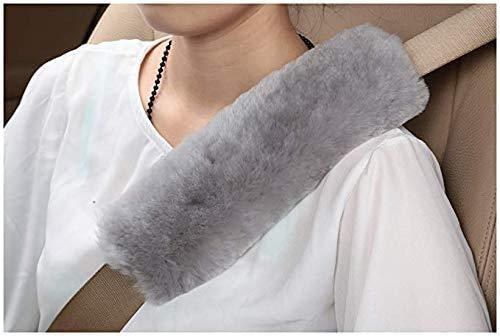 Almohadillas para Cinturón Coche Seguridad, Almohadillas Protectores de Hombro, Auto Fundas de Almohadillas Protectoras de Hombro Seat Belt Pad para Niños Bebés y Adultos(negro)