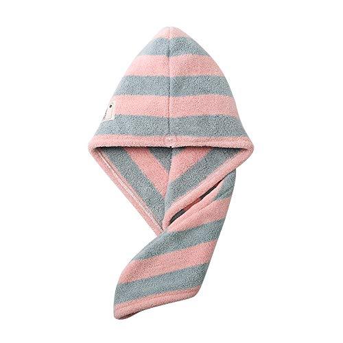 FU LIAN sneldrogende handdoek, droge haardop, absorptie, sneldrogend haar, super absorberend, geschikt voor douche, roze/groen