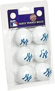 New York Yankees 6 Pack Table Tennis Balls