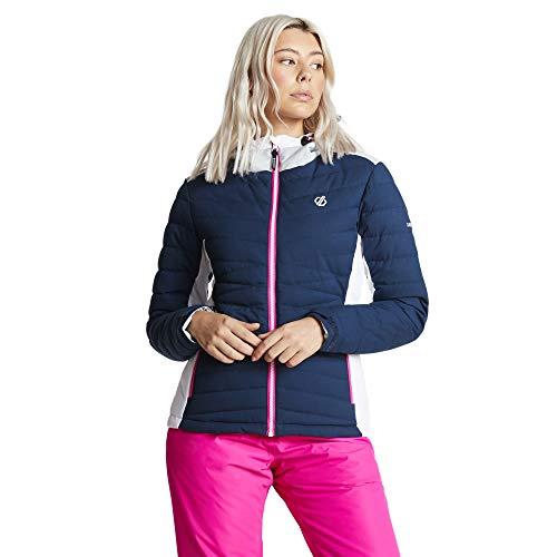 Dare 2b dames Simpatico waterdicht & ademend gewatteerde Silhouette hoge Loft geïsoleerde ski & snowboard jas met technische draad piekkap en afneembare sneeuwrok waterdicht