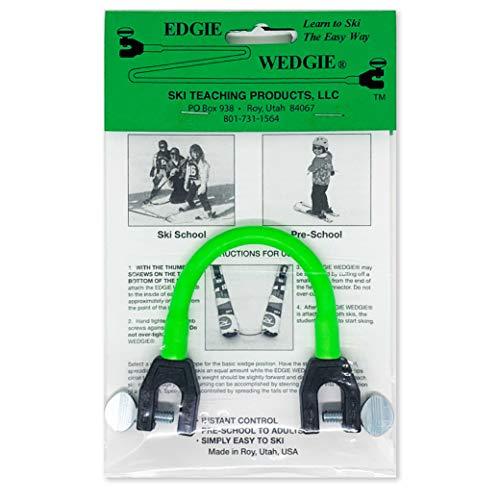 Edgie Wedgie - The Original Kids Ski Tip Connector (Green)
