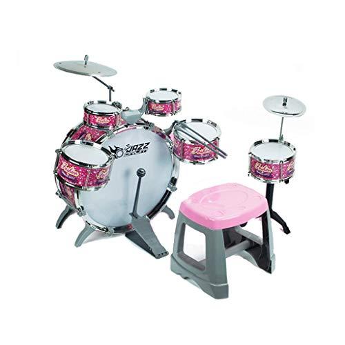 LINGLING-Trommel Drum Sets Kinder Schlagzeug des ultimative Geschenk Jungen-Mädchen-Musikinstrument Spielset Kinder Starter for Anfänger Lernen Drum Set mit Thron Cymbal Pedale Mark