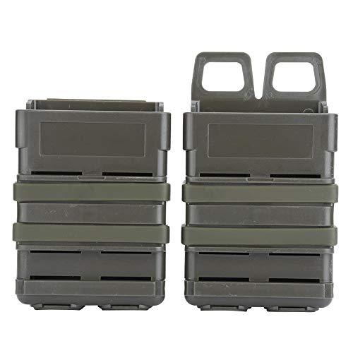 VGEBY1 Magazintasche, Fast Mag M4 ABS Fast Mag Pouch Set Zeitungstasche Molle Strike System für 5.56 Mags(Armeegrün)