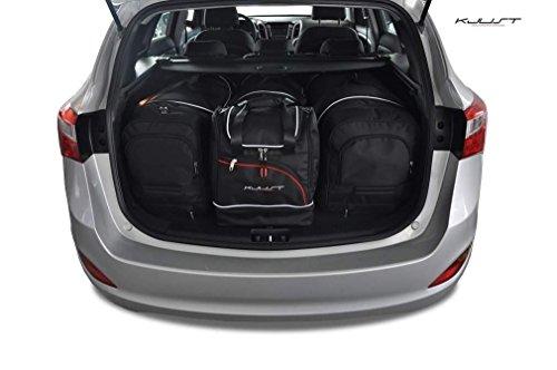 KJUST Reisetaschen 4 STK Set kompatibel mit Hyundai i30 Wagon II 2012-2017