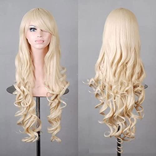 HTDYLHH Hermosas pelucas, peluca de cabeza sintética de fibra sintética, para mujer, pelo largo ondulado, para cosplay, fiesta, uso diario (color : I)