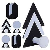 UCEC 6 ganchos para toallas, autoadhesivos, de acero inoxidable, sin agujeros, ideales para baño, cocina, oficina, estilo nórdico