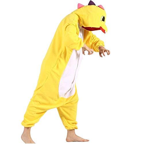 Pijamas de Dibujos Animados de Lana de dragón Animal Mono Multicolor de una Pieza Pijamas Mujeres Hombres Mono Cospalyr Disfraz de Carnaval