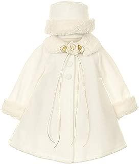 Cozy Fleece Cape Jacket Coat Pink White Ivory Black Red Girls & Infant Hat Set