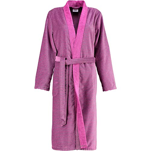 Michaelax-Fashion-Trade Cawö - Damen Bademantel in Kimono-Form (6431), Größe:42, Farbe:Beere (87)