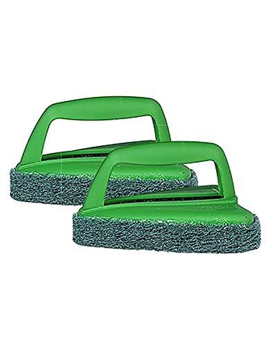 Scotch-Brite Fibre Bathroom Scrubber Brush (Green, Pack of 2)