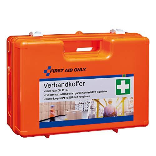 First Aid Only Trousse de Secours Coffret Premiers Soins d'Urgence Contenu Conforme à Norme Din 13168 à Monter sur Mur Transportable Petite P-10033