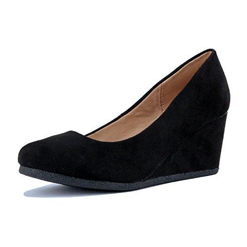 Guilty Shoes - Patricia-02 Black Suede, 5.5