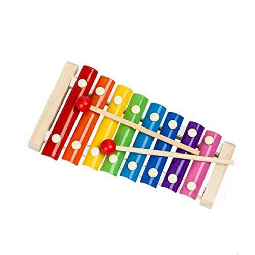 Instrumento musical de madera para bebés, instrumento musical de desarrollo con mazos de Xilófono para…