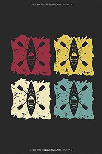 Kayak Pop Art - Kajak Retro: Zweier Kajak Doppelpaddel Vintage Kanusport Paddelboot Notizbuch Planer Kalender Taschenbuch Terminkalender ... für DIN A 5 Taschenkalender 120 Seiten