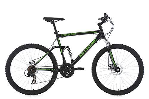 KS Cycling Mountainbike MTB Fully Triptychon 26\'\' schwarz-grün RH 51 cm