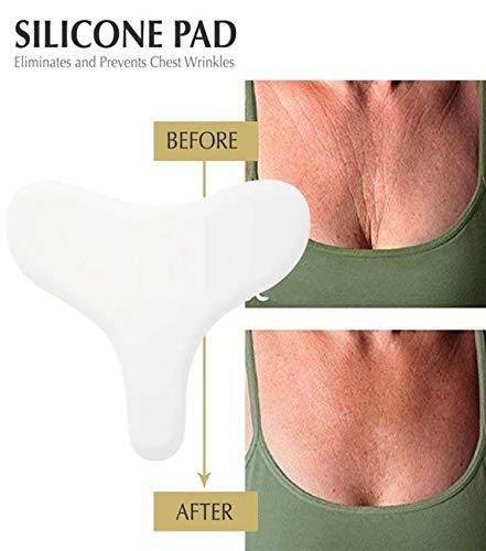 Salah Seif Silicone Pad Anti-Falten Gesichtspads - sanfte und nachhaltige Methode zur Faltenreduzierung! & 100% Medical Grade Silicone Gel !