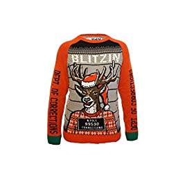 "Ugly Christmas Party Ugly Sweater Men's Assorted Reindeer Long Sleeve Sweatshirt 9 Materials: 60% Cotton/40% Acrylic Work out Junkies Unite! Show off your ""Gainz"" this holiday season. Be The Hit of Your Holiday Party!"