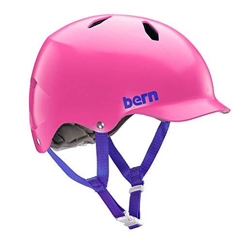 (バーン) bern ヘルメット 子ども用 キッズ用 自転車 おしゃれ かわいい 軽い バイク 幼児 三輪車 幼児用ヘルメット 子供用ヘルメット(S-Mサイズ,ピンク)