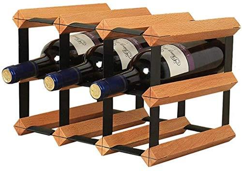 Estante Para Vinos Estante Para Vinos Estante Para Botellas De Vino 9 Botellas Estante Para Vinos De Madera Maciza Barra Estante Para Almacenamiento De Cocina Vinotecas Copas De Vino 'botellero