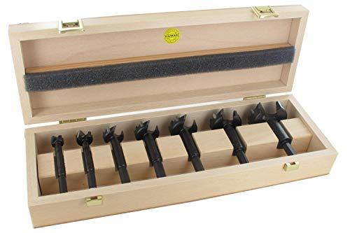 FAMAG 7-teiliger Bormax Hartmetall-Forstnerbohrersatz D=15,20,25,30,35,40,50mm im Holzkasten