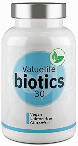 Biotics30 Darmflora Komplex - Einzigartig: 30 Bakterienkulturen zur Unterstützung von Darm und Verdauung - 2- Monats- Darmkur von VALUELIFE