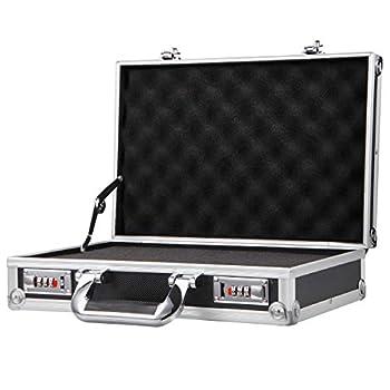 Aluminium Hard Case DIY Pre-Scored Foam Mens Business Briefcase Home Storage Box