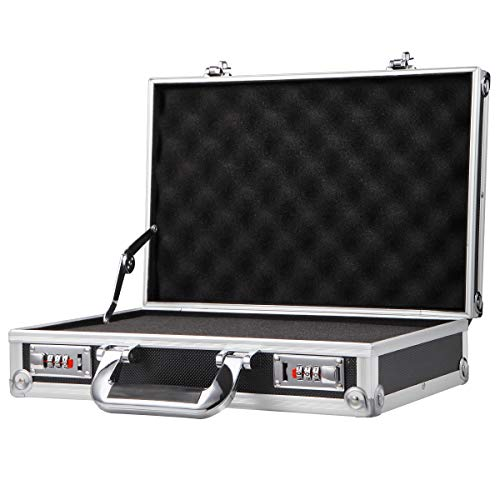 Aluminium Hard Case DIY Pre-Scored Foam Mens Business Briefcase Home Storage Box
