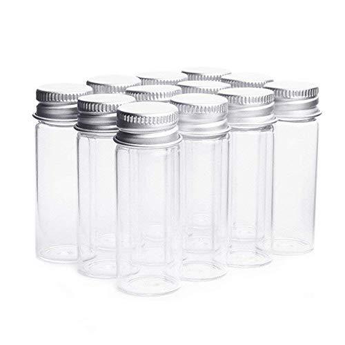 Botellas de cristal transparente con aluminio,frascos para caramelos, bisutería, adornos, para bodas, de Danmu Art., vidrio, marrón, 14ml