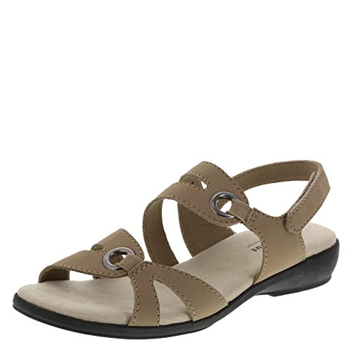 Predictions Comfort Plus Women's Tan Women's Peggy Strappy Sling 12 Wide