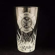 Fire Department, Pint glass, Beer Stein, Fireman Gift, Fireman gifts, Firefighter gift, Firefighter gifts, Flames, Beer stein, Firefighter retirement, Firefighter graduation, Fireman retirement gift